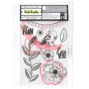 American Crafts Vicki Boutin So Fun Stamps & Dies Pack