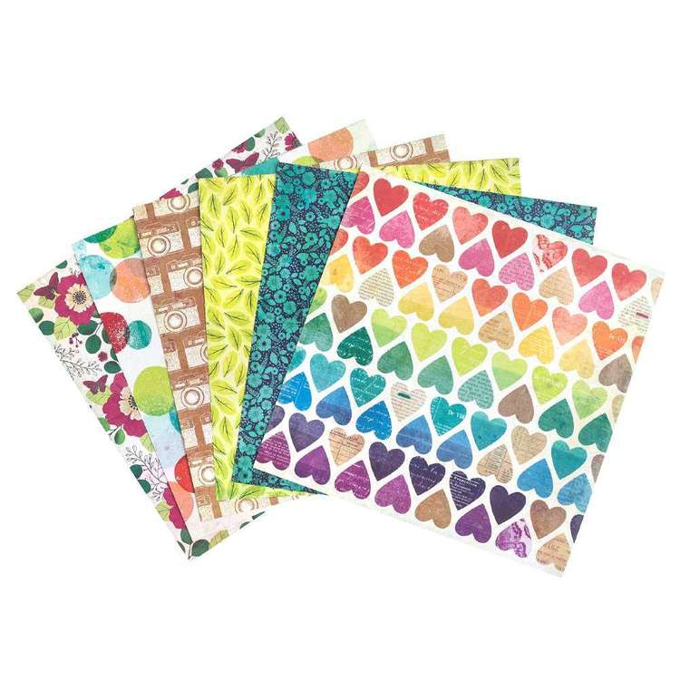 American Crafts Vicki Boutin 12 x 12 in Paper Pad Multicoloured