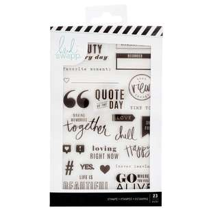 American Crafts Heidi Swapp Colourfresh Stamp Set