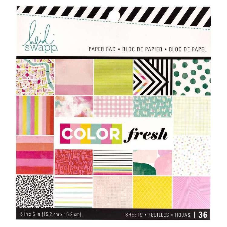American Crafts Heidi Swapp Colourfresh 6 x 6 in Paper Pad