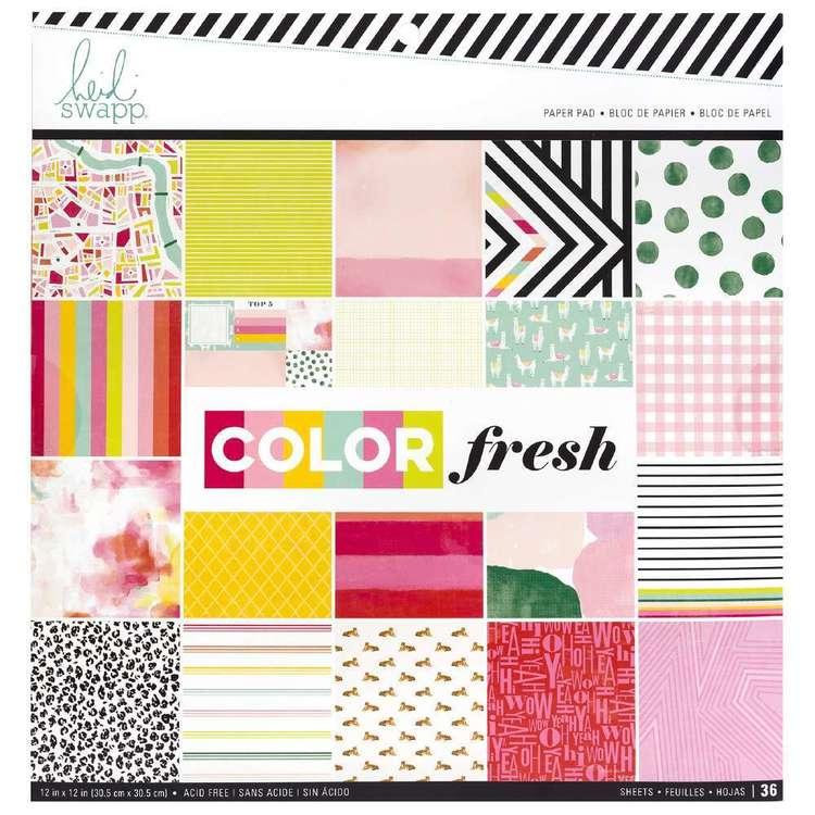 American Crafts Heidi Swapp Colourfresh Paper Pad 12X12