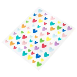 American Crafts Amy Tangerine Staysweet Expoxy Heart Stickers