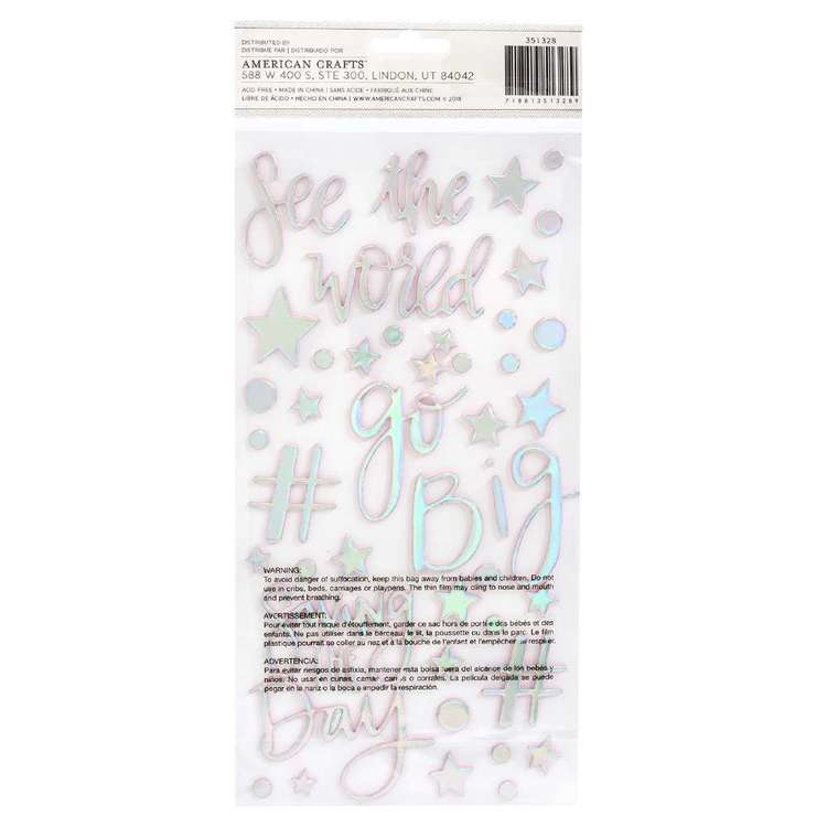American Crafts Shimelle Sparkle City Phrase Thickers Multicoloured