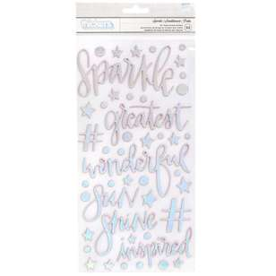 American Crafts Shimelle Sparkle City Phrase Thickers