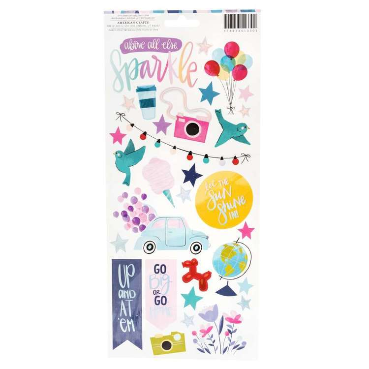 American Crafts Shimelle Sparkle City Stickers Multicoloured