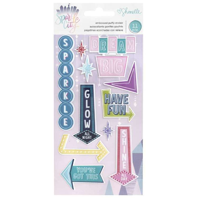 American Crafts Shimelle Sparkle City Puffy Stickers