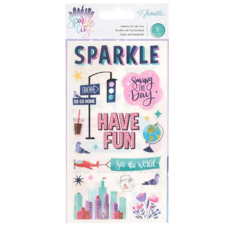American Crafts Shimelle Sparkle City Rub On