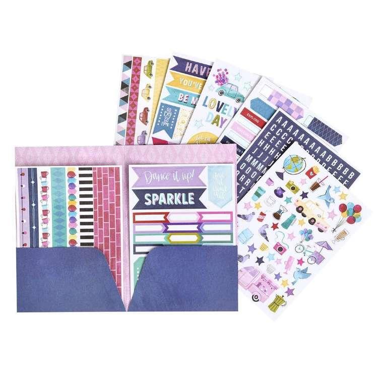 American Crafts Shemille Sparkle city Sticker Folder