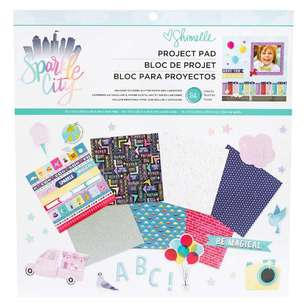 American Crafts Shimelle Sparkle City 12 x 12 in Project Pad