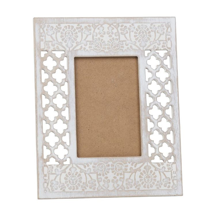 Ombre Home Weathered Coastal Etched Frame White 22.5 x 27.5 cm