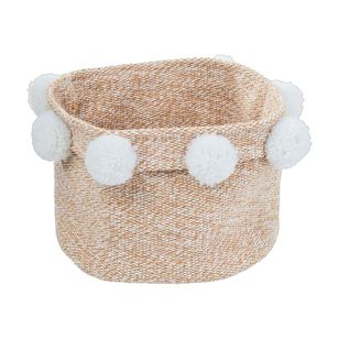 Ombre Home Weathered Coastal Basket With Pom Pom
