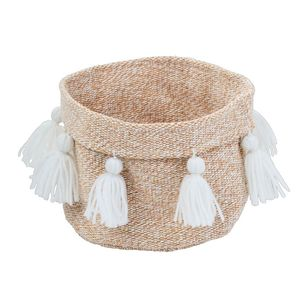 Ombre Home Weathered Coastal Basket With Tassels