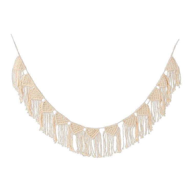 Ombre Home Boho Bloom Macrame Garland