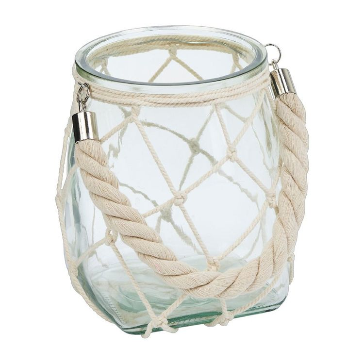 Ombre Home Weathered Coastal Vase With Rope