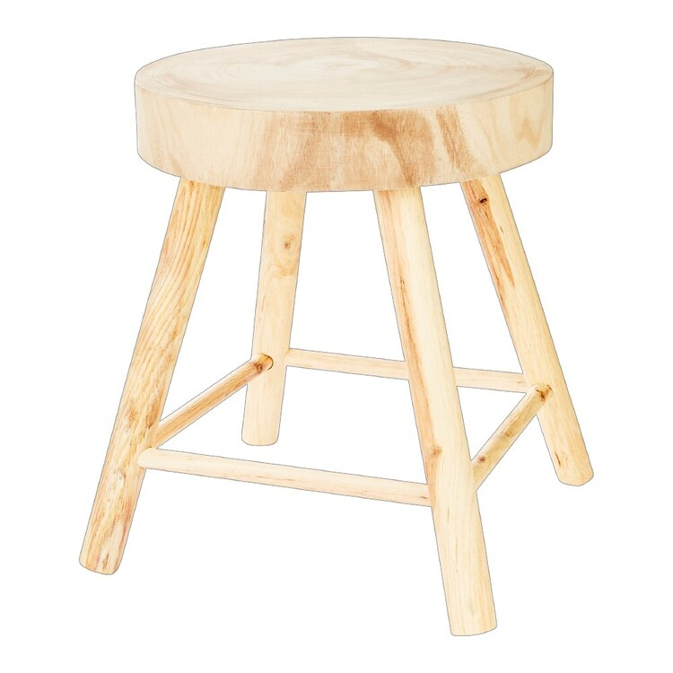 Ombre Home Weathered Coastal Wooden Stool