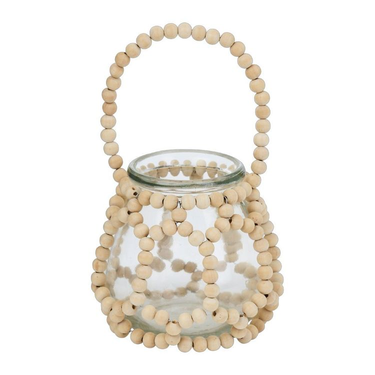 Ombre Home Weathered Coastal Jar With Beads