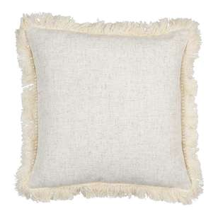 Ombre Home Weathered Coastal Cushion With Fringes