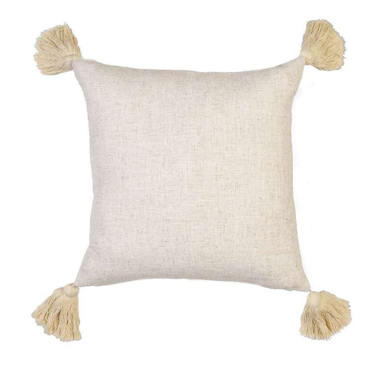 Ombre Home Weathered Coastal Cushion With Tassels