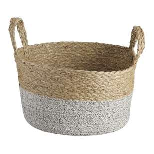 Ombre Home Weathered Coastal Storage Basket