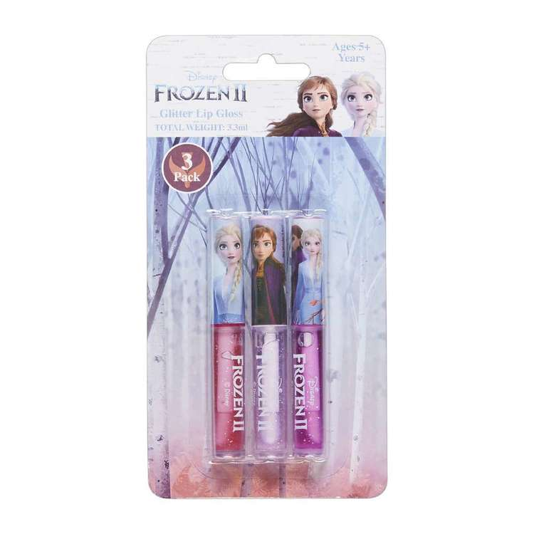 Disney Frozen 2 Glitter Lip Gloss Set 3 Pack