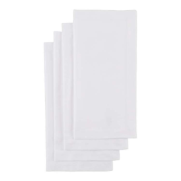 Wam Platinum Dining 4 Pack Cotton Napkins
