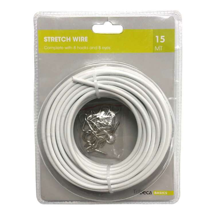 Tribeca 15m Stretch Wire Pack White 15 m