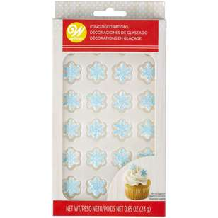 Wilton Shimmer Snowflake Royal Icing Decals