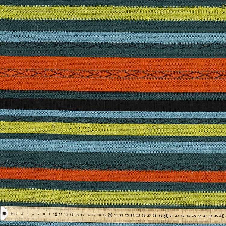 Spice Stripe Mexican Poncho Fabric