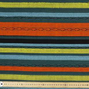 Spice Stripe Mexican Poncho Fabric