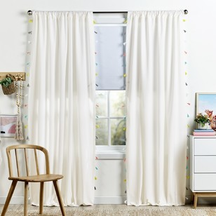 KOO Chambrey Tassel Rod Pocket Curtain