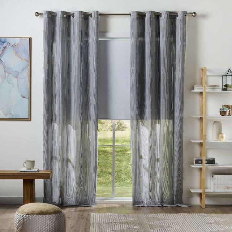 KOO Leno Weave Eyelet Curtain