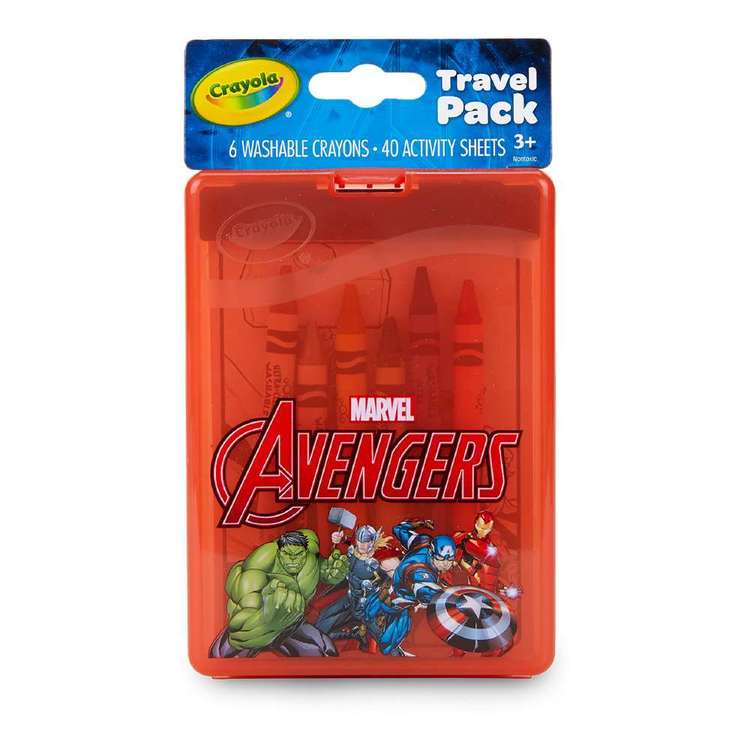 Crayola On-The-Go Marvel Avengers Travel Pack