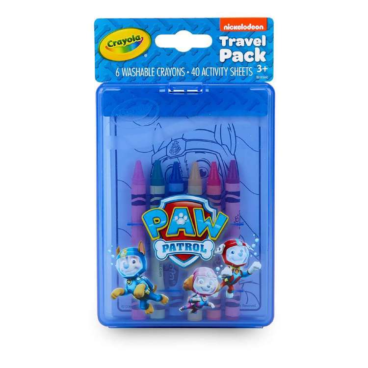 Crayola On-The-Go Paw Patrol Travel Pack Multicoloured