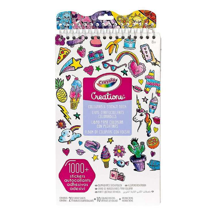 Crayola Color Your Own! Sticker Book Multicoloured