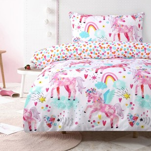 Kids House Rainbow Pegasus Quilt Cover Set