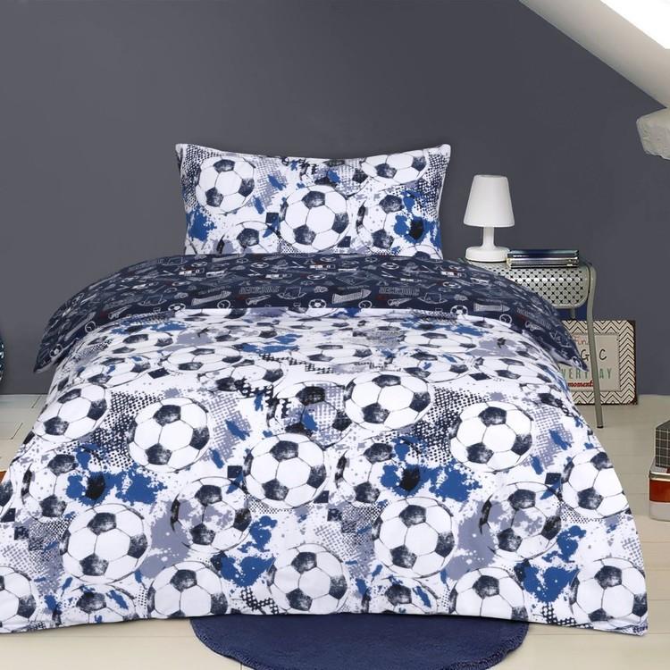 Kids House Soccer Quilt Cover Set