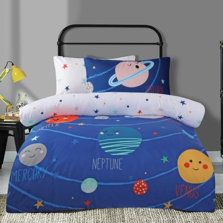 Ombre Blu Space Quilt Cover Set