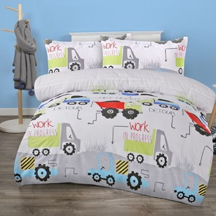 KOO Kids Construction Zone Quilt Cover Set