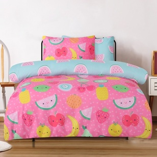 Ombre Blu Fruit Salad Quilt Cover Set