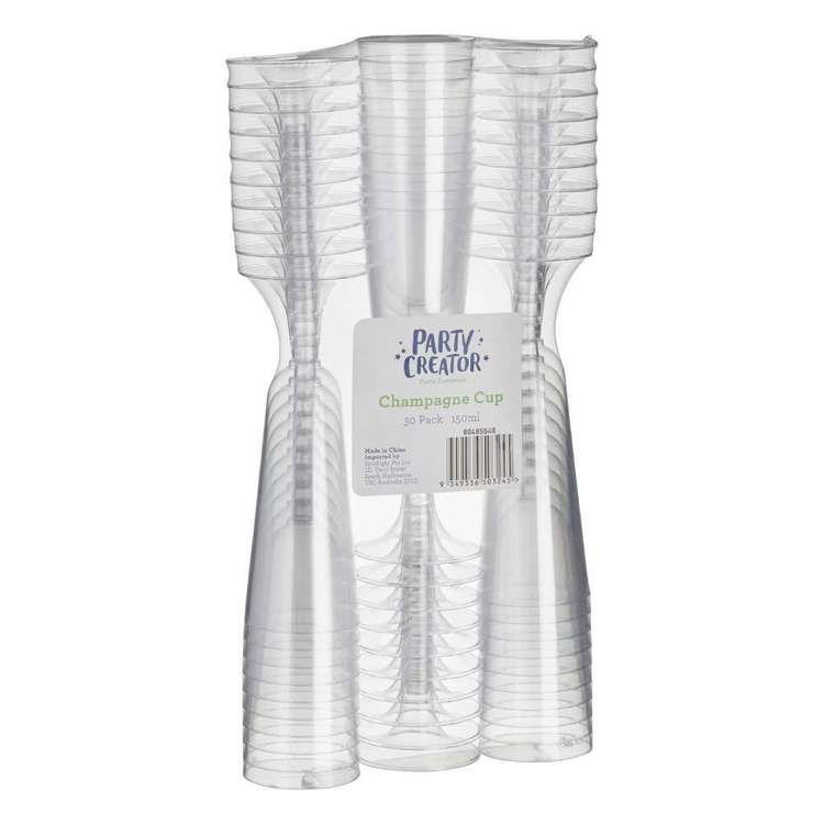 Champagne Cups 30 Pack