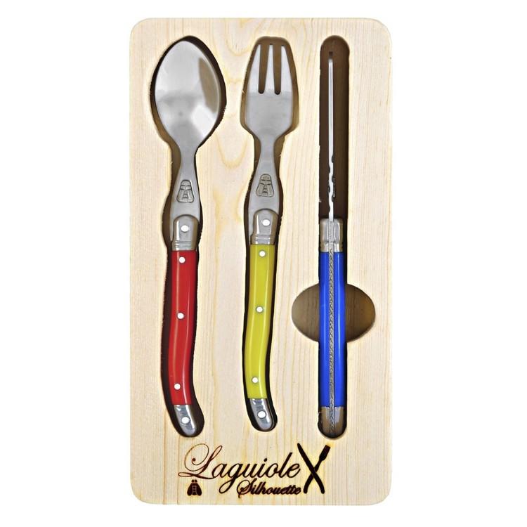 Laguiole Silhouette Kids 3 Piece Cutlery Set
