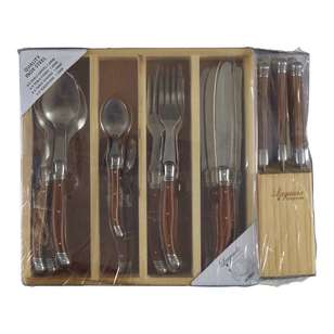 Laguiole Etiquette 24 Piece Cutlery And 7 Piece Knife Set