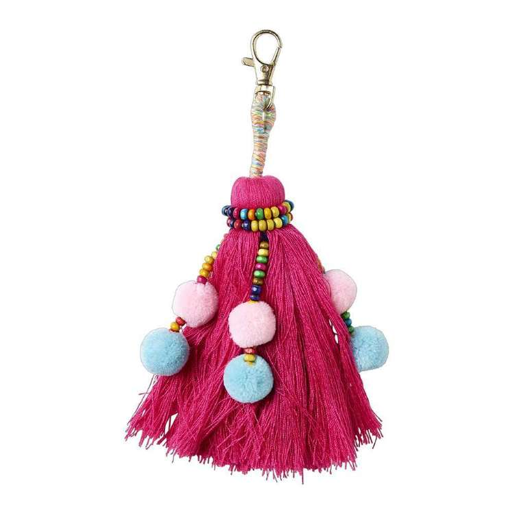Havana Single Beaded Pom Tassel