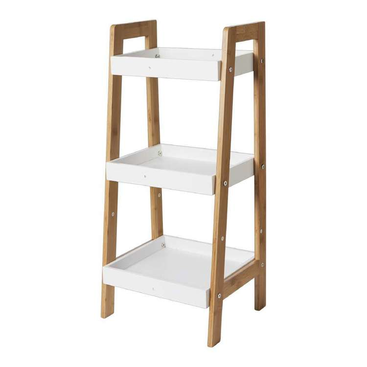 Living Space Jenna 3 Tier Bamboo Shelf
