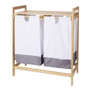 Living Space Jenna Double Laundry Hamper