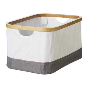 Living Space Jenna Bamboo Rim Storage Box