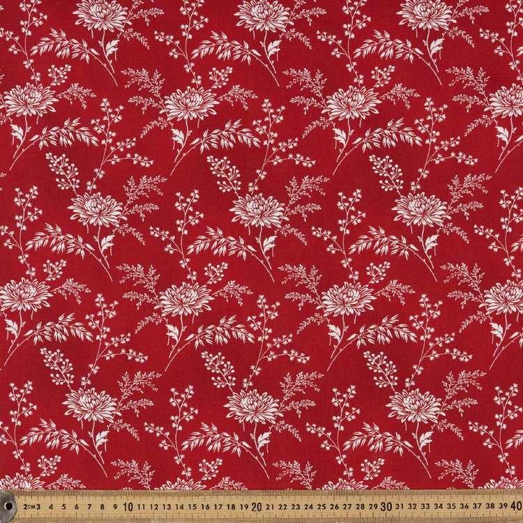 Washington St Studio Temperance Red Large Floral Cotton Fabric