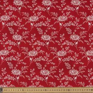 Washington St Studio Temperance Red Large Floral Cotton Fabric