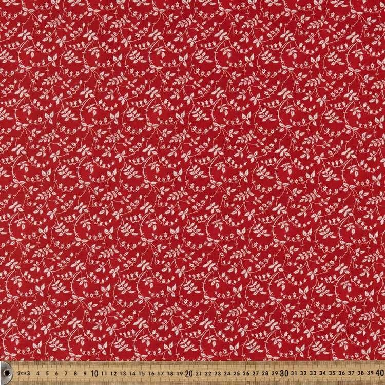 Washington St Studio Temperance Red Scroll Floral Cotton Fabric