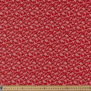 Washington St Studio Temperance Red Scroll Floral Cotton Fabric